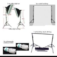 Photobooth Continous Lighting and Backdrop bundle