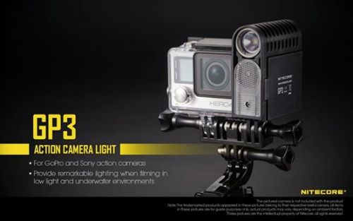 Nitecore GP 3 video Light for ActionCam