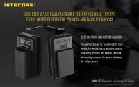 Nitecore Usb Charger for camera  ( canon ) Lpe6/ Lpe8
