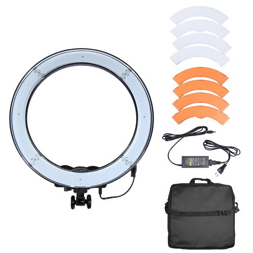 240PCS LED Ring Light 5500K Camera Phone Video Light Photography Dimmable Ring Lamp