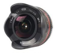 Samyang 7.5mm Fisheye - 4/3 Mount (Black or Silver)
