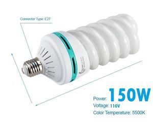 150 Watt Daylight Balanced Compact Fluorescent Light Bulb