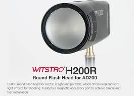 Godox Witstro H200R Round Flash Head for AD200 TTL Pocket Flash