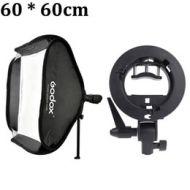 Godox Portable 60 * 60cm Studio Flash Softbox Soft Box Diffuser with S-type Bracket Bowens Holder for Speedlite Light