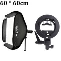 Godox Portable 60 * 60cm Studio Flash Softbox Soft Box Diffuser with S-type Bracket Bowens Holder for Speedlite Light