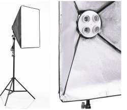 Continuous Lighting Softbox with 4X85W Bulbs + Stand  sc 1 st  Sgcamerastore.com & Continuous Lighting Softbox with 4X85W Bulbs + Stand ... azcodes.com